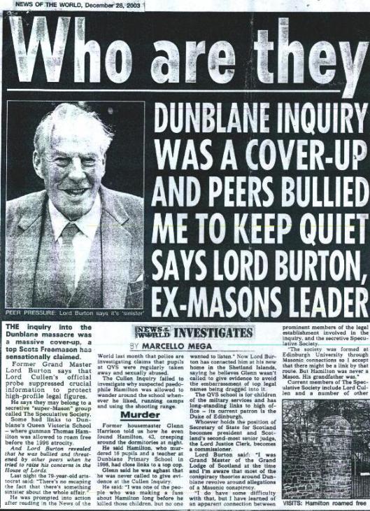 Freemason paedophile coverup